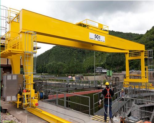 50 ton Rail Mounted Trolley Traveling Gantry Crane