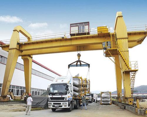 32t double girder gantry crane with hoist for sale