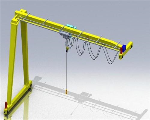 AQ-BMG Model Double Girder Single Leg Gantry Crane