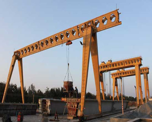outdoor single girder electric hoist gantry crane for sale