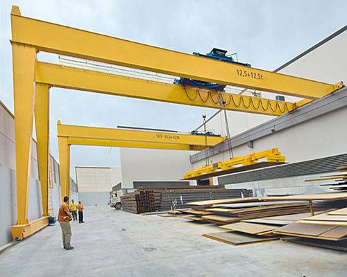 semi structure gantry trolley crane for sale