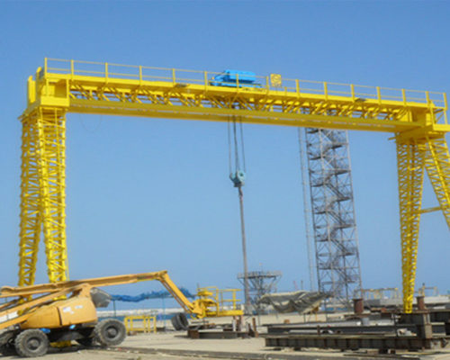 truss structure motorized gantry crane for sale