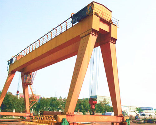 A model double girder gantry crane with trolley for sale