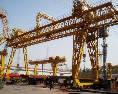 Double girder truss gantry crane with one year free maintenance for sale