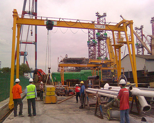 A type single girder crane for sale