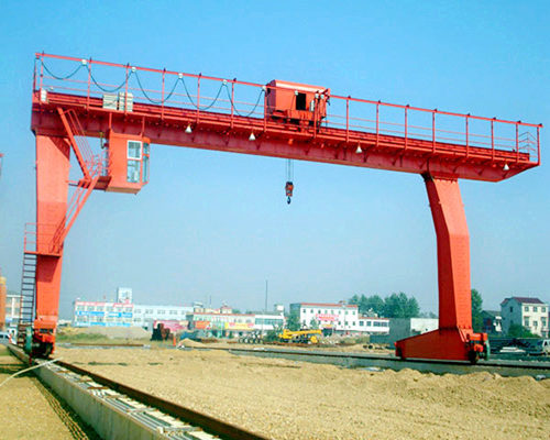 L type single girder rail gantry crane for sale