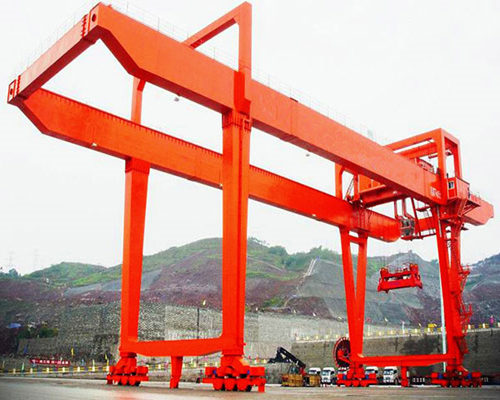 U mode electric double beam gantry crane for sale
