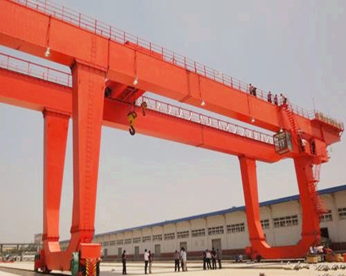 U type electric double girder gantry crane for sale