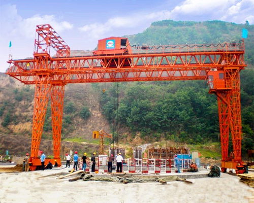 Ellsen heavy duty truss structure gantry crane for sale