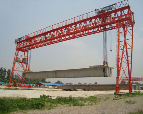 high quality double girder hook gantry crane for sale