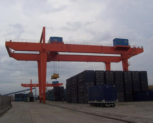 Ellsen rail mounted container gantry crane for sale