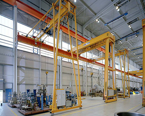 semi gantry crane in cheap price for sale