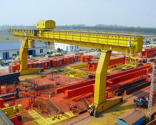 single rail gantry crane L type for sale