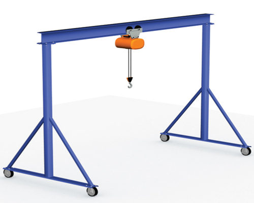 fixed height portable gantry crane 3 ton for sale