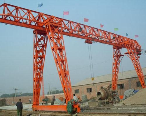 MH type electric hoist single girder truss cantilever gantry crane for sale