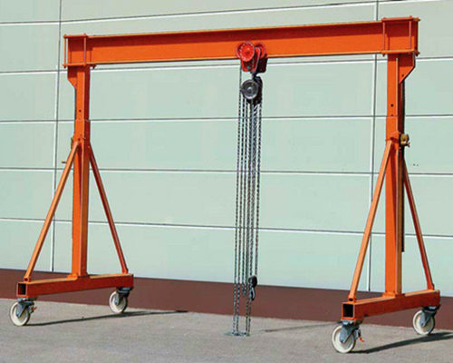 Single girder gantry crane 3 ton for sale