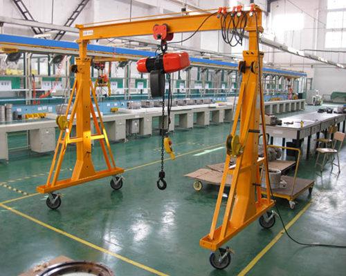 Single girder gantry crane 3t for sale