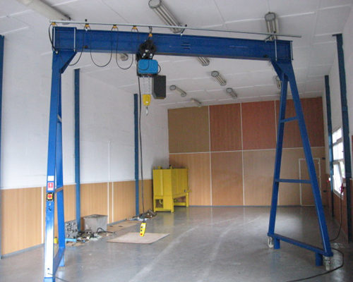 Stable fixed steel single girder cranes for sale
