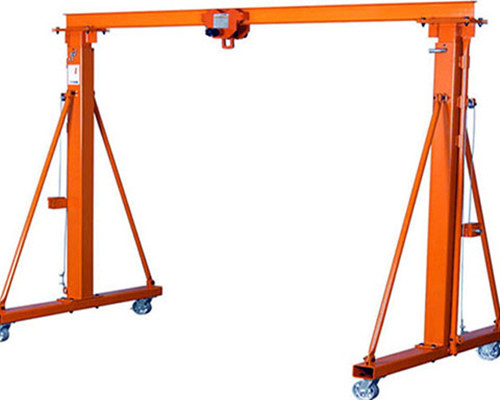 Excellent a frame gantry crane with electric hoist for sale