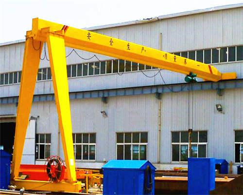 AQ-BMH Model Electric Hoist Semi Gantry Crane