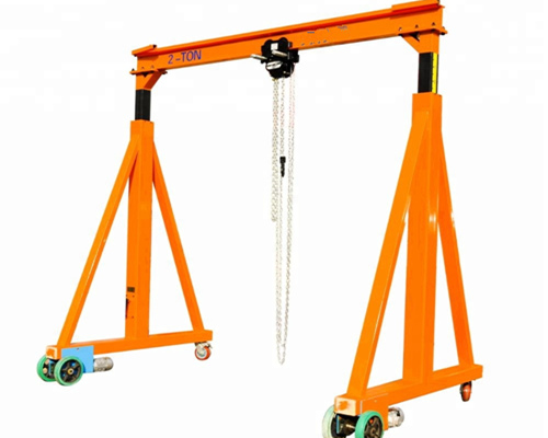 Fixed height steel single beam crane for sale