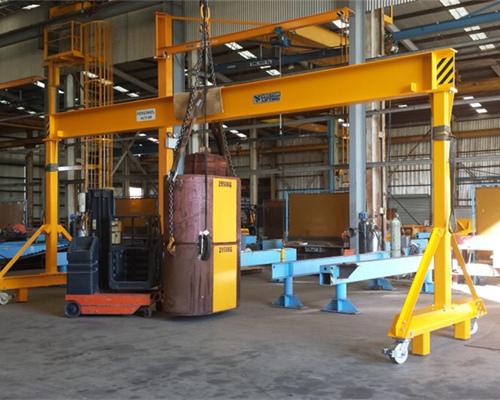 Excellent AQ-BMH model electric hoist semi gantry crane 2 ton for sale