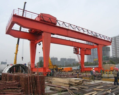 Excellent U type electric double girder gantry crane for sale
