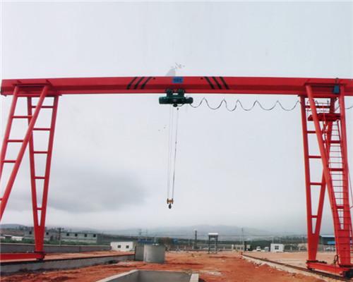 single girder 20 ton gantry crane with electric hoist for sale