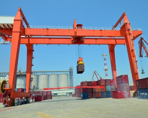 Excellent double girder gantry crane 100 ton in European standard for sale
