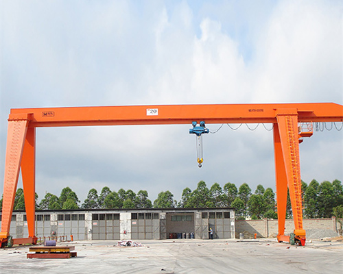 single girder gantry crane operation